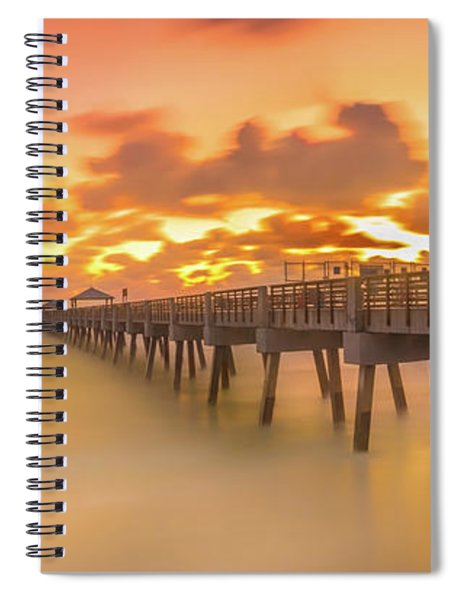 Sunrise At Juno Beach Spiral Notebook
