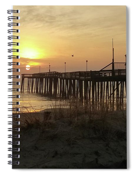 Sunrise At Pier's End Spiral Notebook