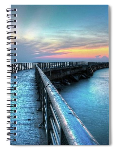 Sunrise At Sebastian Inlet Spiral Notebook