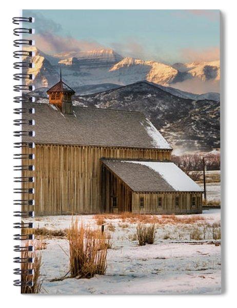 Sunrise At Tate Barn Spiral Notebook