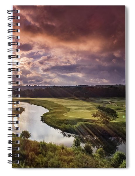 Sunrise At The Course Spiral Notebook