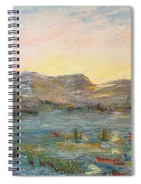 Sunrise At The Pond Spiral Notebook