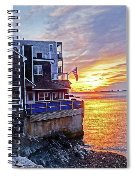 Sunrise By The Barnacle Marblehead Ma Spiral Notebook