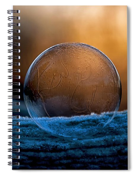 Sunrise Capture In Bubble Spiral Notebook