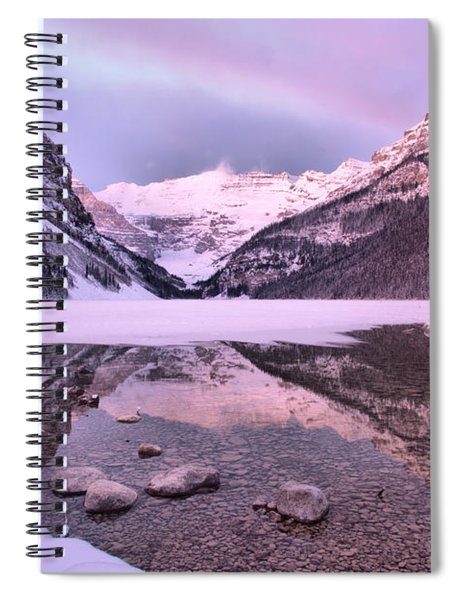 Sunrise Cloudbow Over Lake Louise Spiral Notebook