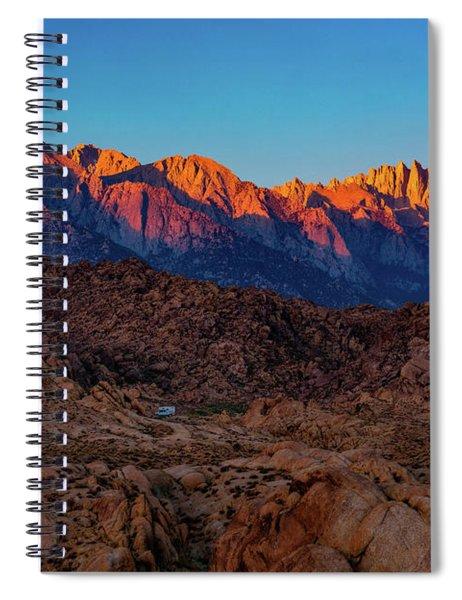 Sunrise Illuminating The Sierra Spiral Notebook