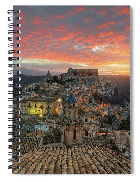 Spiral Notebook featuring the photograph Sunrise In Ragusa Ibla by Mirko Chessari