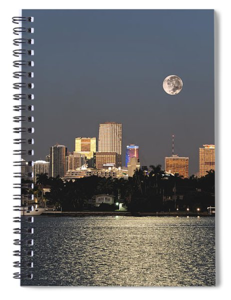 Moonrise Over Miami Spiral Notebook