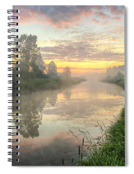 Sunrise On A Misty River Spiral Notebook