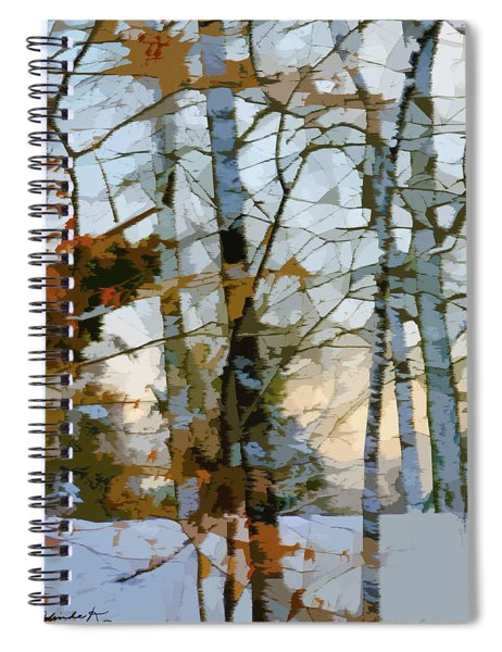 Sunrise On A Wintry Day Spiral Notebook