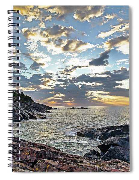 Sunrise On Christmas Cove Spiral Notebook