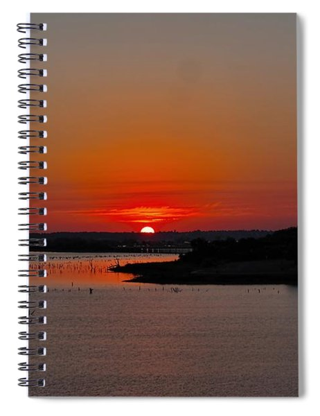 Sunrise On Lake Ray Hubbard Spiral Notebook