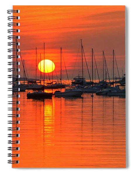 Sunrise On Salem Harbor Salem Ma Spiral Notebook