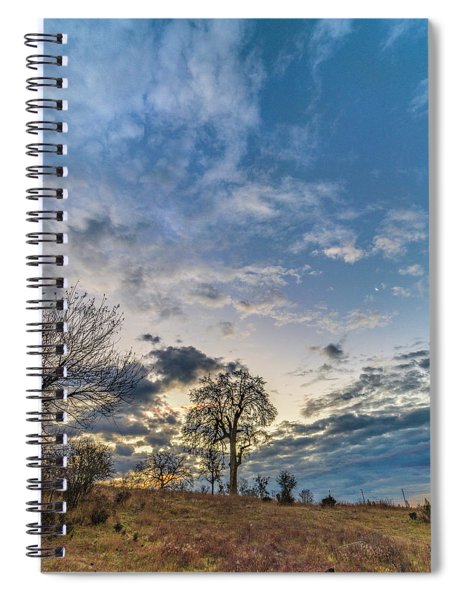 Sunrise On The Back Hill Spiral Notebook