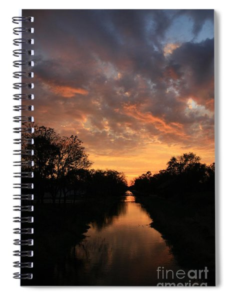 Sunrise On The Illinois Michigan Canal Spiral Notebook