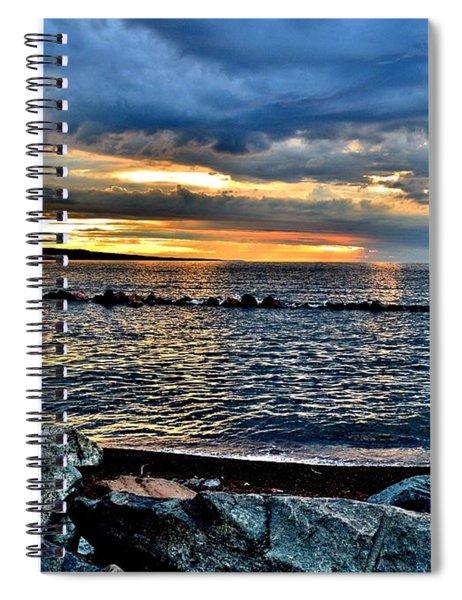 Sunrise On The Rocks Spiral Notebook