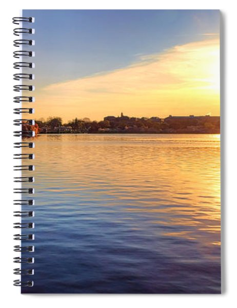 Sunrise On The Tidal Basin Spiral Notebook