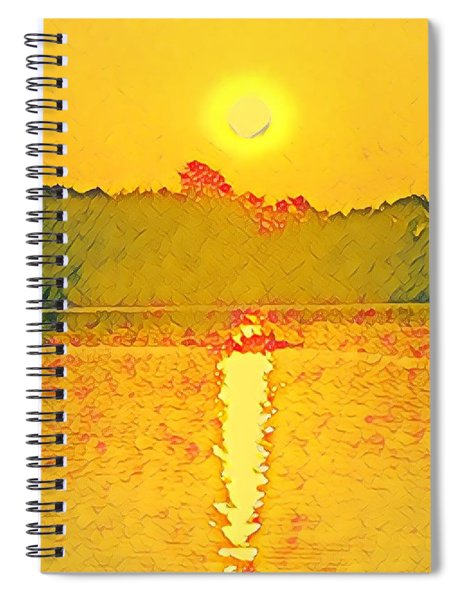 Sunrise On Town Lake Spiral Notebook