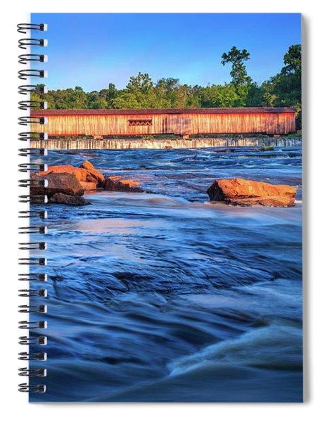 Spiral Notebook featuring the photograph Sunrise On Watson Mill Bridge by Doug Camara