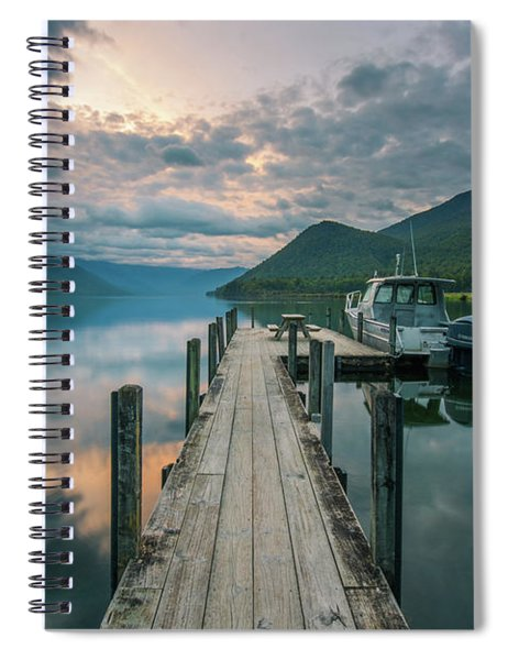 Sunrise Over Lake Rotoroa Spiral Notebook