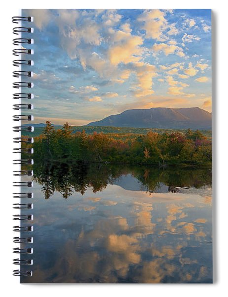 Sunrise Over Mt. Katahdin Spiral Notebook