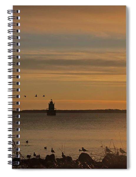 Sunrise Over New Bedford Spiral Notebook