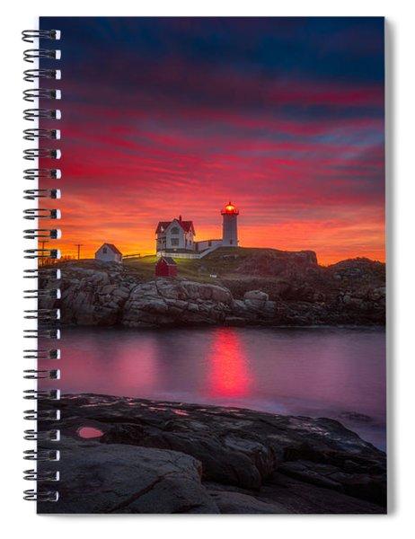 Sunrise Over Nubble Light Spiral Notebook