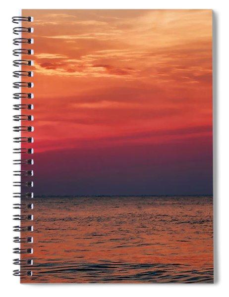 Sunrise Over The Horizon On Myrtle Beach Spiral Notebook