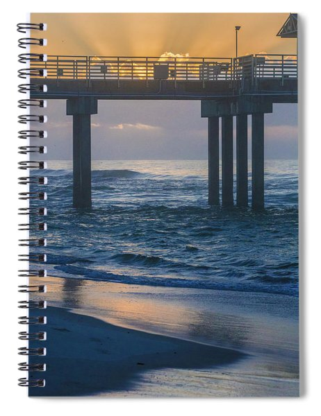 Sunrise Over The Pier Spiral Notebook