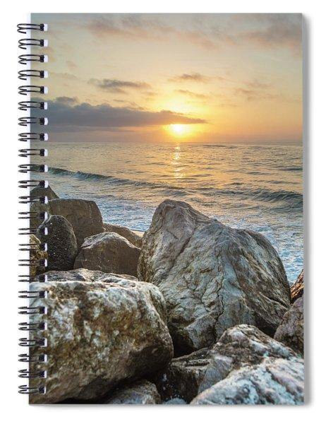 Sunrise Over The Rocks  Spiral Notebook