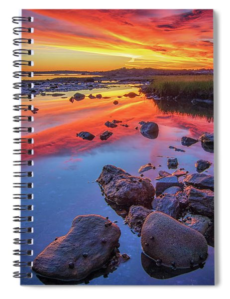 Sunrise Reflections In Harpswell Spiral Notebook