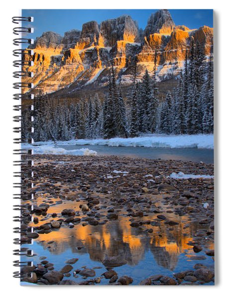 Sunrise Reflections In The Bow River Spiral Notebook