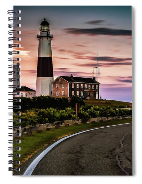 Sunrise Road To The Montauk Lighthous Spiral Notebook