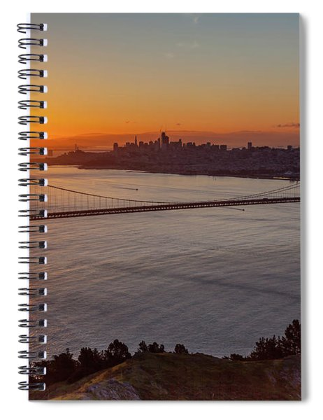 Sunrise Sunlight Hitting The Coastal Rock On The Shore Of The Go Spiral Notebook