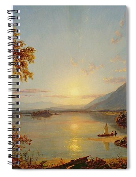 Sunset  Lake George Spiral Notebook