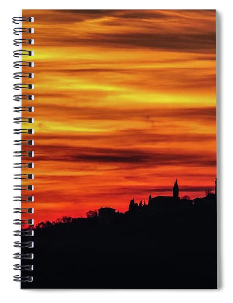 Sunset 11 Spiral Notebook