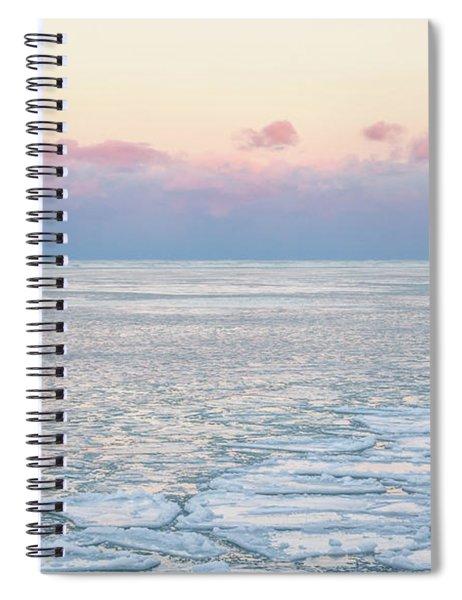 Sunset Across The Frozen Lake Spiral Notebook