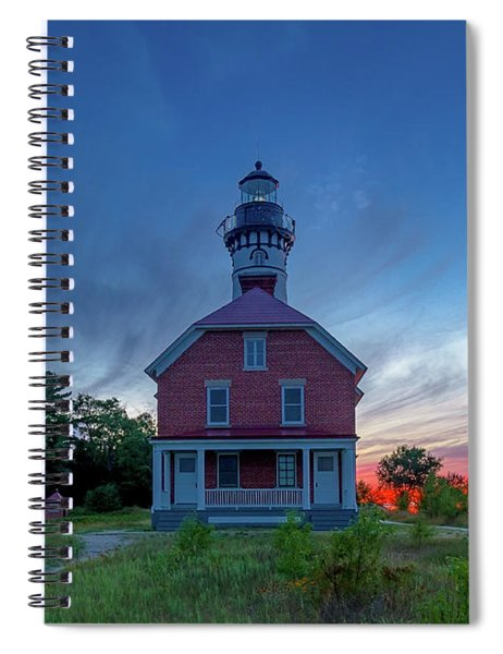 Sunset At Au Sable Point Lighthouse Spiral Notebook