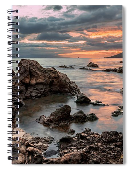 Sunset At Charley Young Beach Spiral Notebook