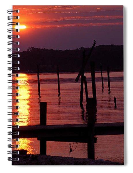 Sunset At Colonial Beach Spiral Notebook