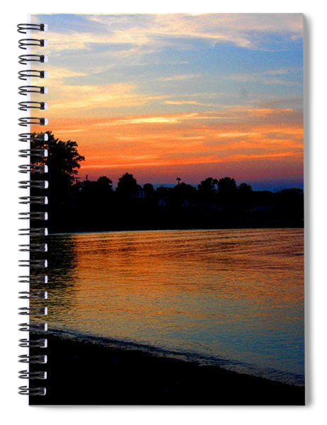 Sunset At Colonial Beach Cove Spiral Notebook
