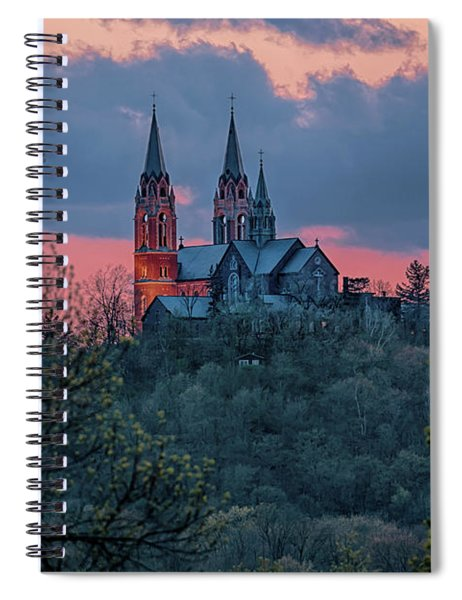 Sunset At Holy Hill Spiral Notebook