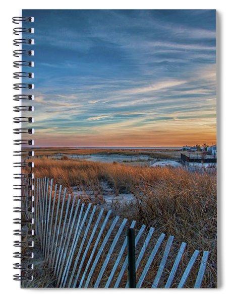 Sunset At Lighthouse Beach In Chatham Massachusetts Spiral Notebook