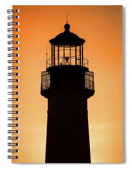 Sunset At Lighthouse Spiral Notebook