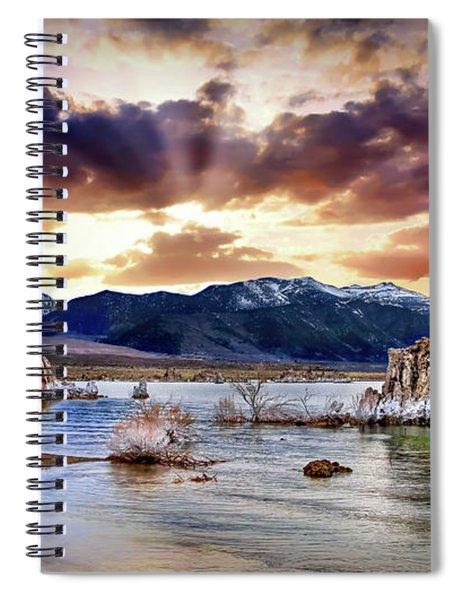 Sunset At Mono Lake Spiral Notebook