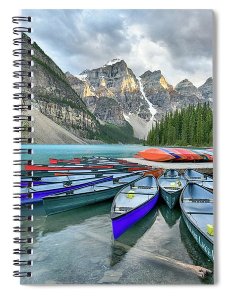Sunset At Moraine Lake Spiral Notebook