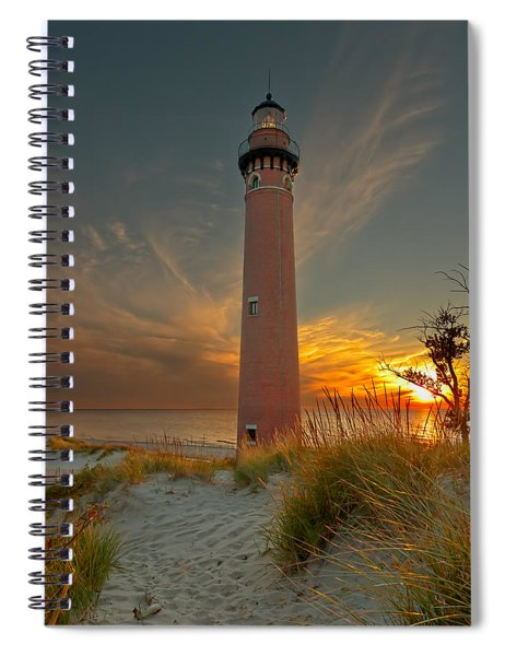 Sunset At Petite Pointe Au Sable Spiral Notebook