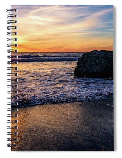 Sunset At San Simeon Beach Spiral Notebook