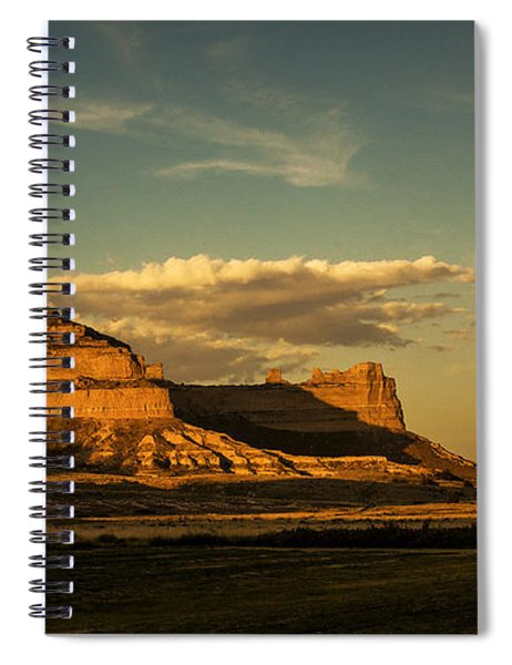 Sunset At Scotts Bluff National Monument Spiral Notebook