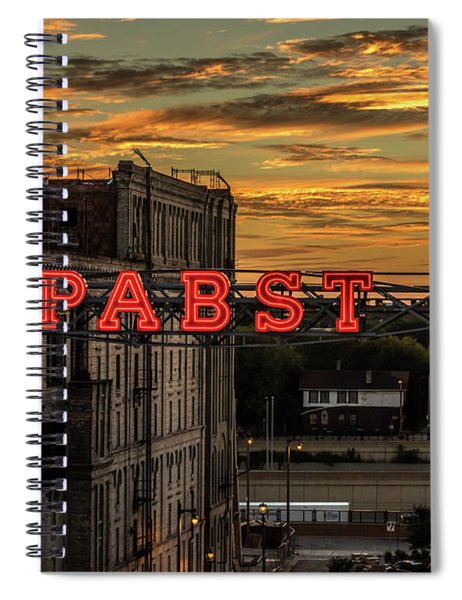 Sunset At The Brewery Spiral Notebook